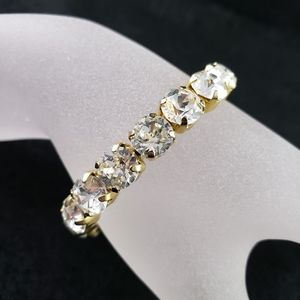 Cara Couture Bracelet Rhinestones Stretch Bangle